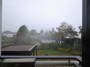Cyclone Evan starts to pick up